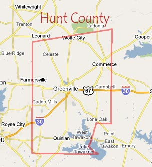Hunt County Map